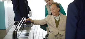 Catraca de acesso para cadeirante