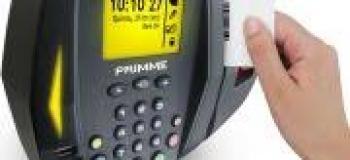 Relogio de ponto biometrico e de barras